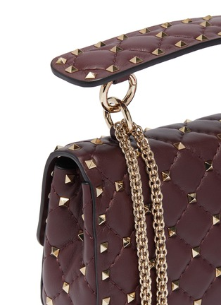 - VALENTINO - 'Rockstud Spike' small quilted leather shoulder bag