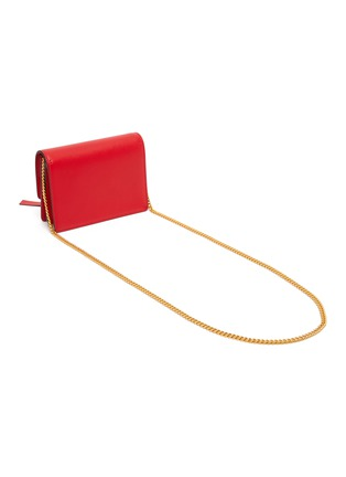 Detail View - Click To Enlarge - VALENTINO - 'VRing' tassel leather chain clutch