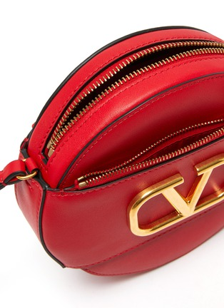Detail View - Click To Enlarge - VALENTINO - Valentino Garavani 'VLOGO' leather round crossbody bag