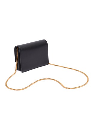 Detail View - Click To Enlarge - VALENTINO - 'VRing' leather chain clutch