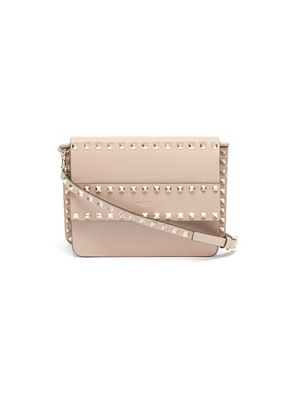 Main View - Click To Enlarge - VALENTINO - Valentino Garavani 'Rockstud' small leather shoulder bag