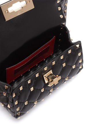 Detail View - Click To Enlarge - VALENTINO - 'Rockstud Spike' mini pouch crossbody bag