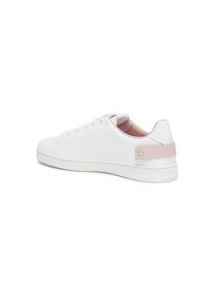 - VALENTINO - 'Backnet' perforated VLOGO leather sneakers