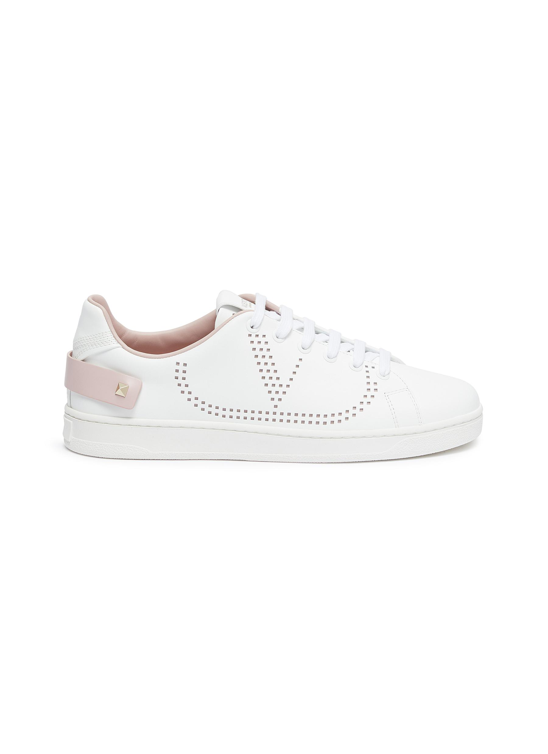 Backnet perforated VLOGO leather sneakers by Valentino