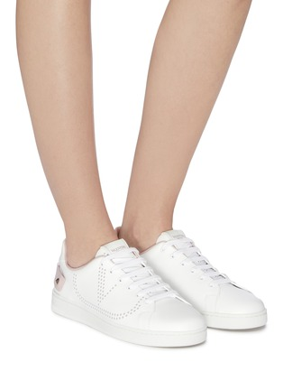Figure View - Click To Enlarge - VALENTINO - 'Backnet' perforated VLOGO leather sneakers