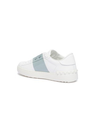- VALENTINO - 'Open' patent colourblocked leather sneakers