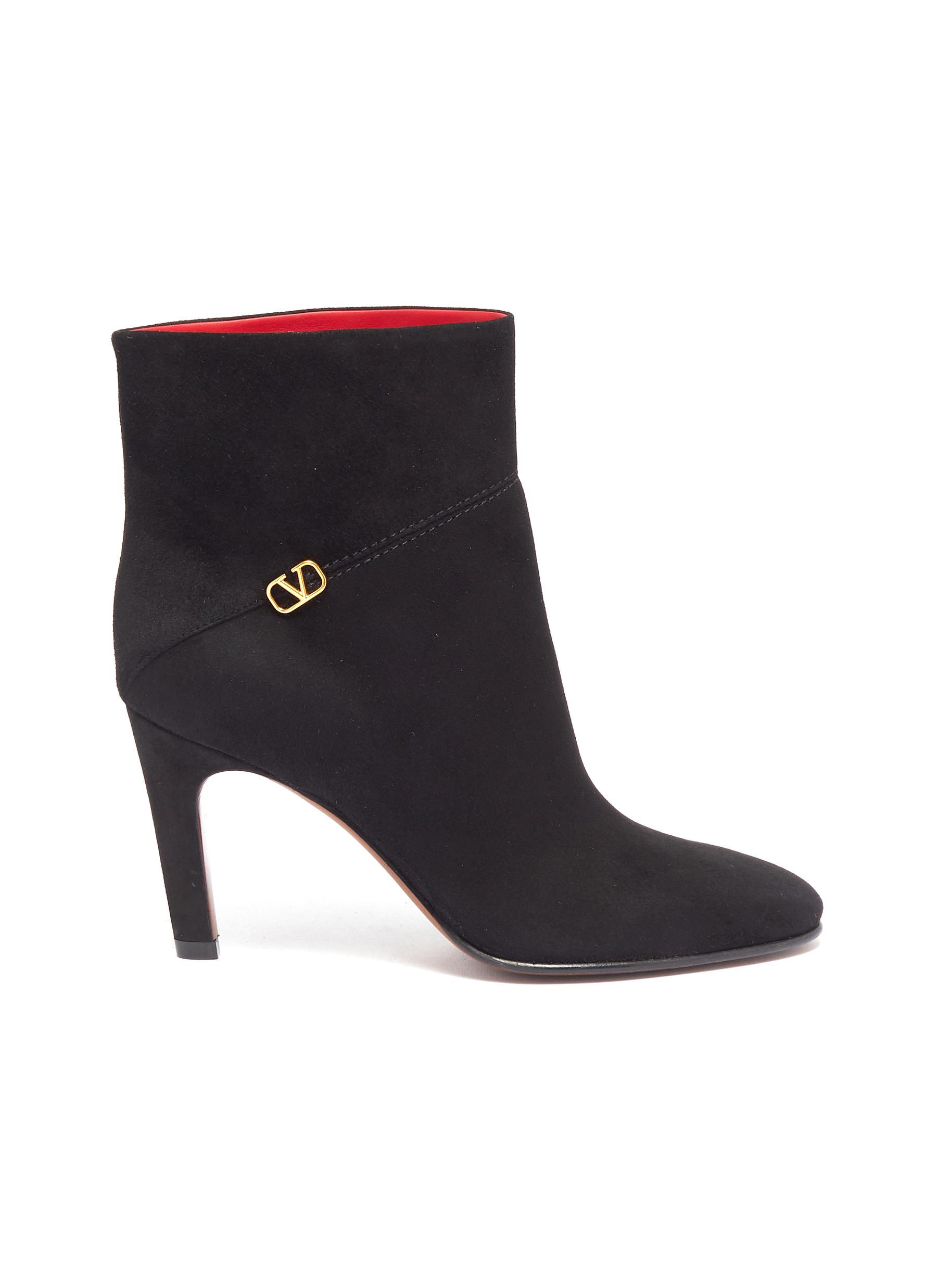 VLOGO suede ankle boots by Valentino