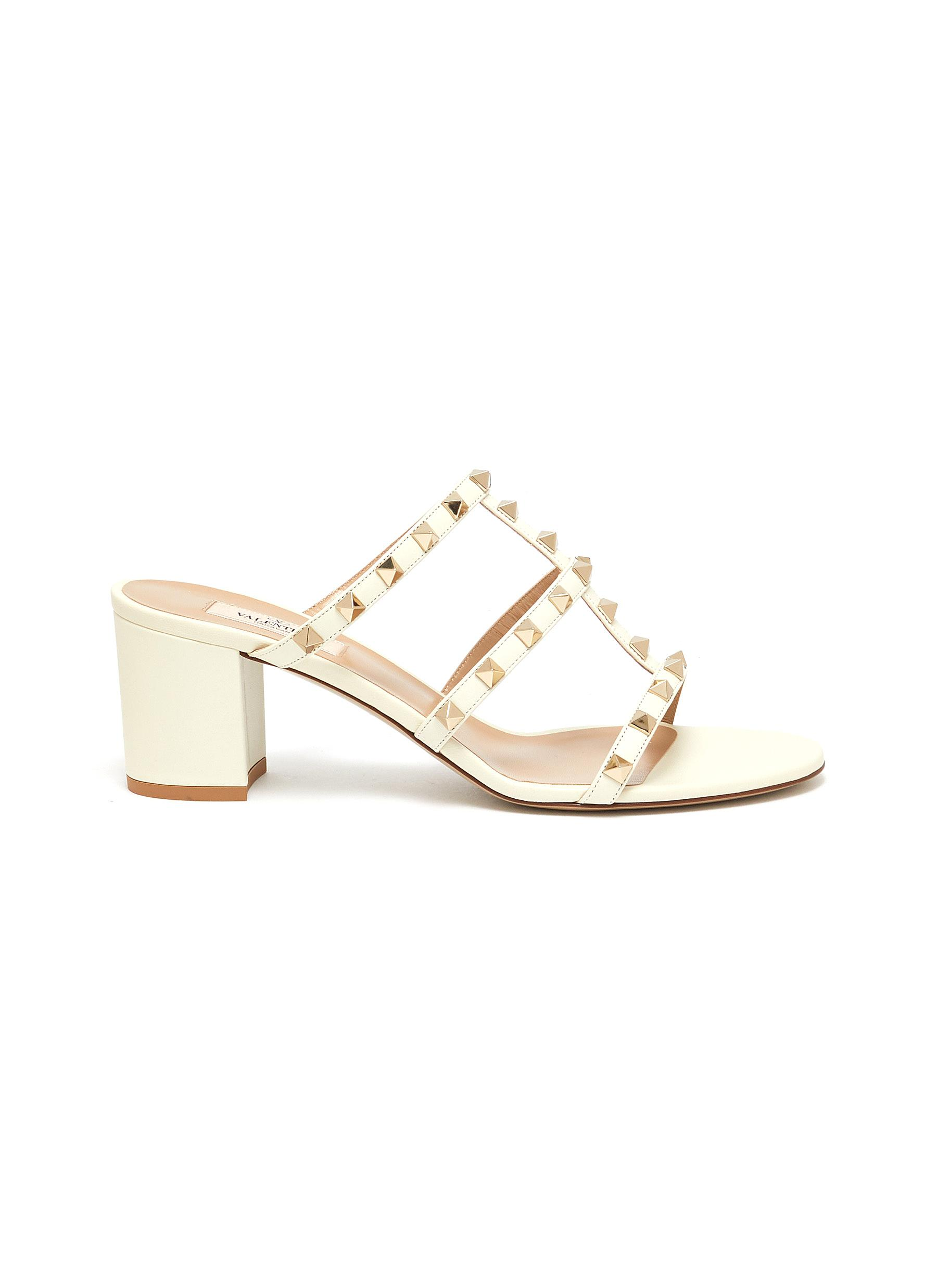 Rockstud caged leather sandals by Valentino