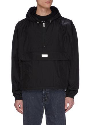 Main View - Click To Enlarge - HELIOT EMIL - Convertible bag half zip hooded anorak