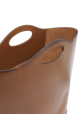 Detail View - Click To Enlarge - Pedro García - Cutout handle leather tote