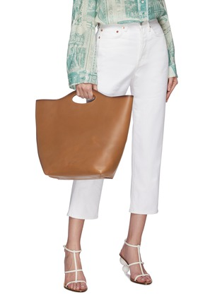 Figure View - Click To Enlarge - Pedro García - Cutout handle leather tote