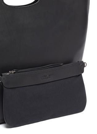 - Pedro García - Cutout handle leather tote