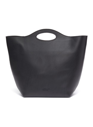Main View - Click To Enlarge - Pedro García - Cutout handle leather tote