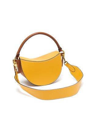 Detail View - Click To Enlarge - YUZEFI - 'Dip' colourblock top handle leather shoulder bag