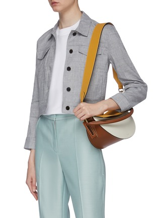 Front View - Click To Enlarge - YUZEFI - 'Dip' colourblock top handle leather shoulder bag