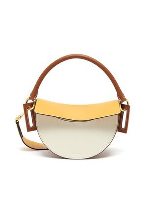Main View - Click To Enlarge - YUZEFI - 'Dip' colourblock top handle leather shoulder bag