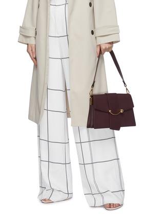 Figure View - Click To Enlarge - STRATHBERRY - 'Crescent' arc bar leather shoulder bag