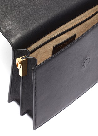 Detail View - Click To Enlarge - STRATHBERRY - 'Crescent' arc bar leather shoulder bag