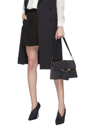 Figure View - Click To Enlarge - STRATHBERRY - 'Crescent' arc bar leather shoulder bag