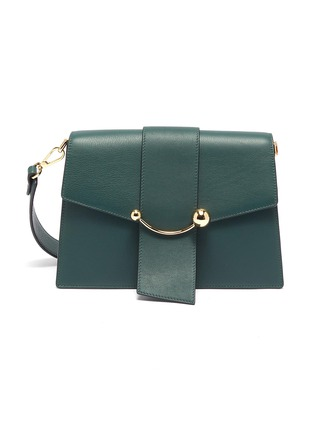 Main View - Click To Enlarge - Strathberry - 'Crescent' arc bar leather shoulder bag