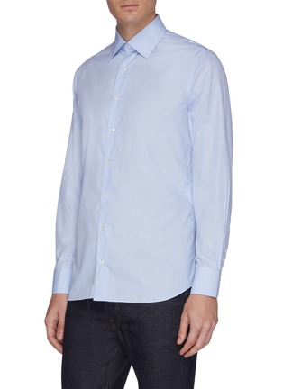 Front View - Click To Enlarge - LARDINI - Micro check shirt