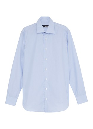 Main View - Click To Enlarge - LARDINI - Micro check shirt