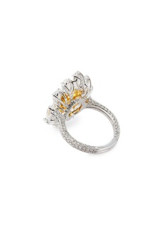 LC Collection Jewellery Diamond 18k yellow gold platinum cluster ring