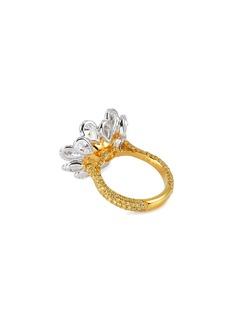 LC Collection Jewellery Diamond 18k yellow gold platinum heart ring