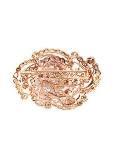 LC Collection Jewellery Diamond 18k rose gold swirl brooch