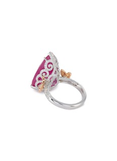 LC Collection Jewellery Diamond ruby 18k rose gold platinum ring