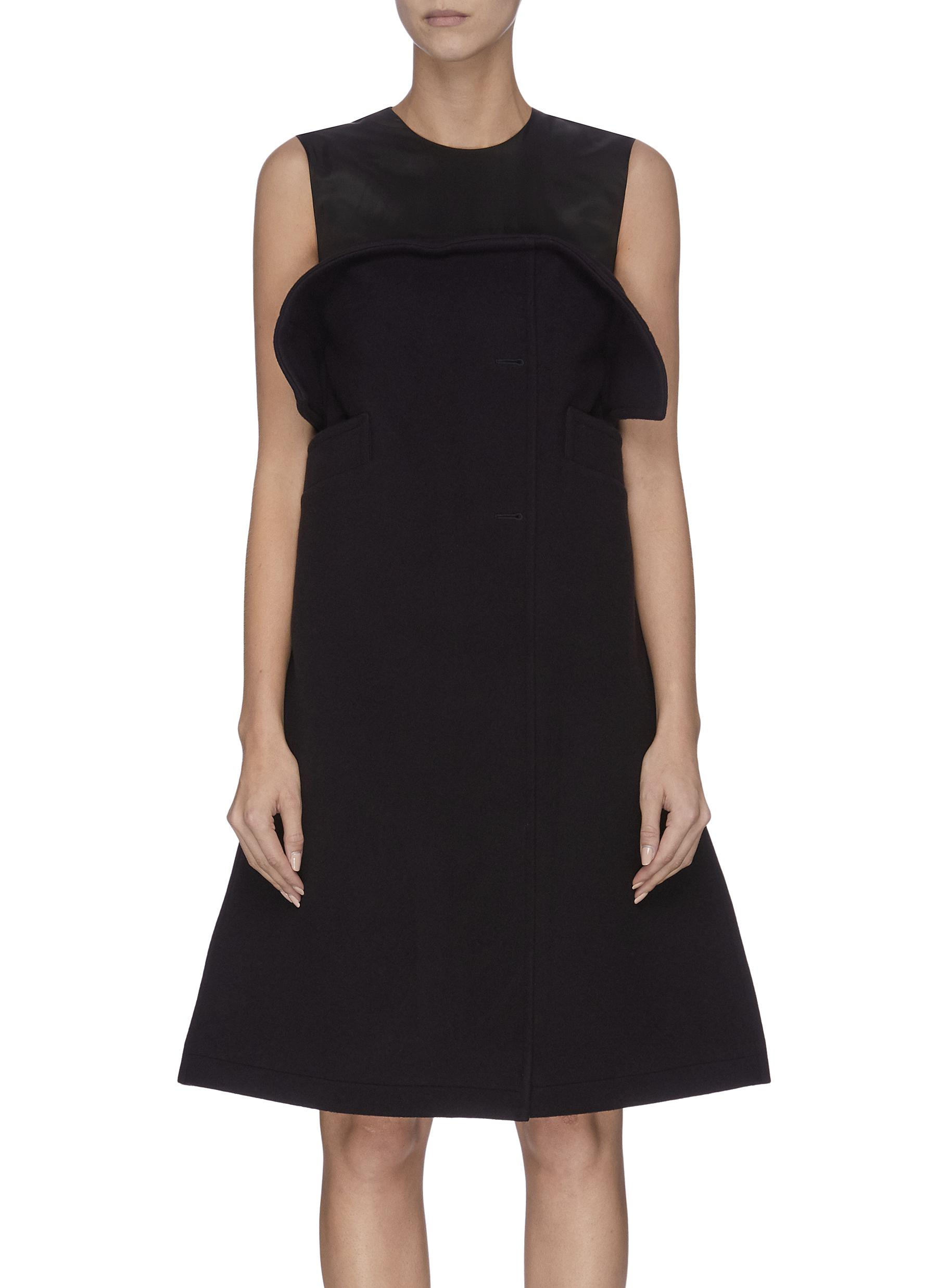 Welt pocket panelled bustier shift dress by Maison Margiela