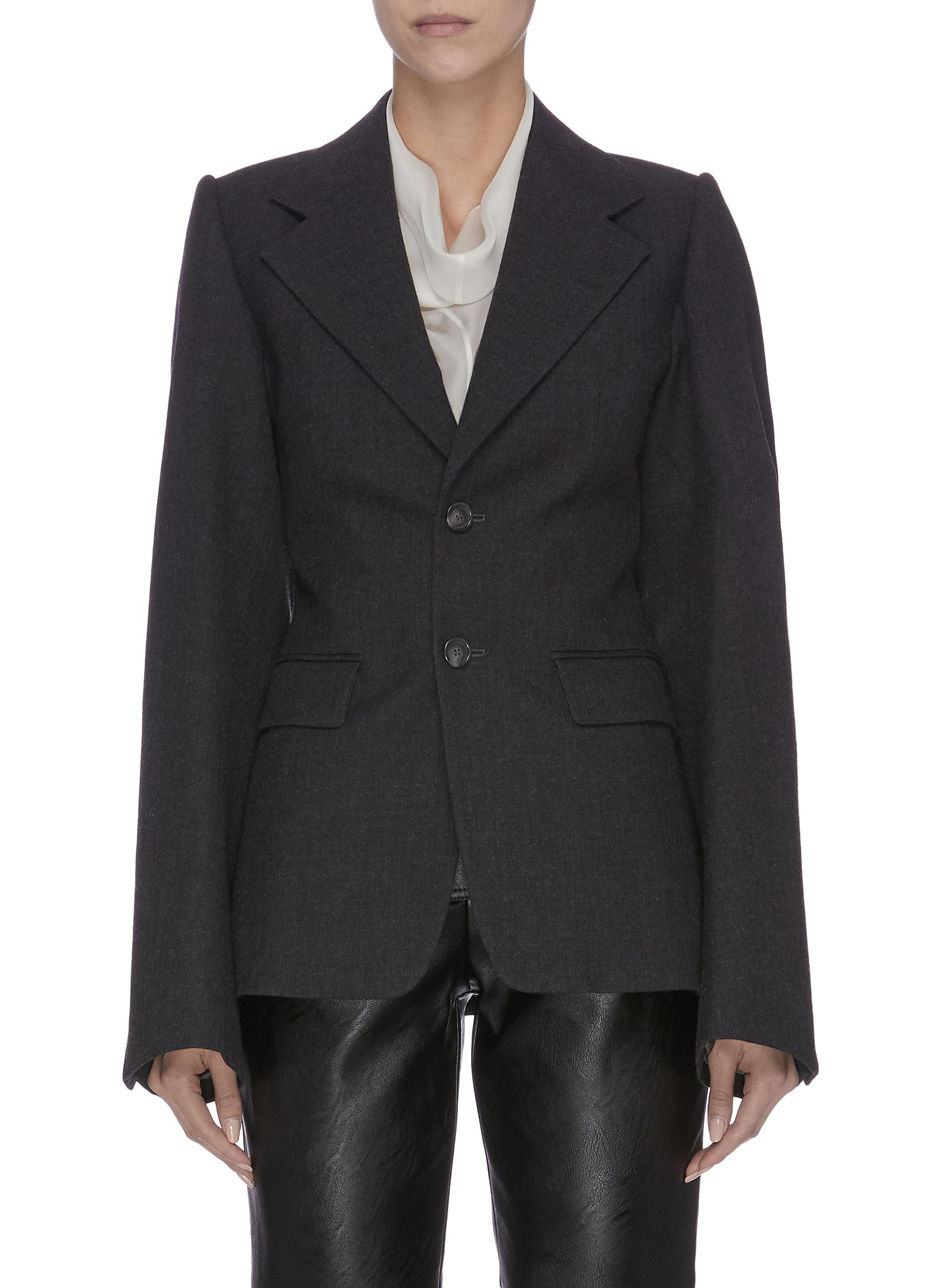 Peaked lapel single-breasted wool blazer by Maison Margiela