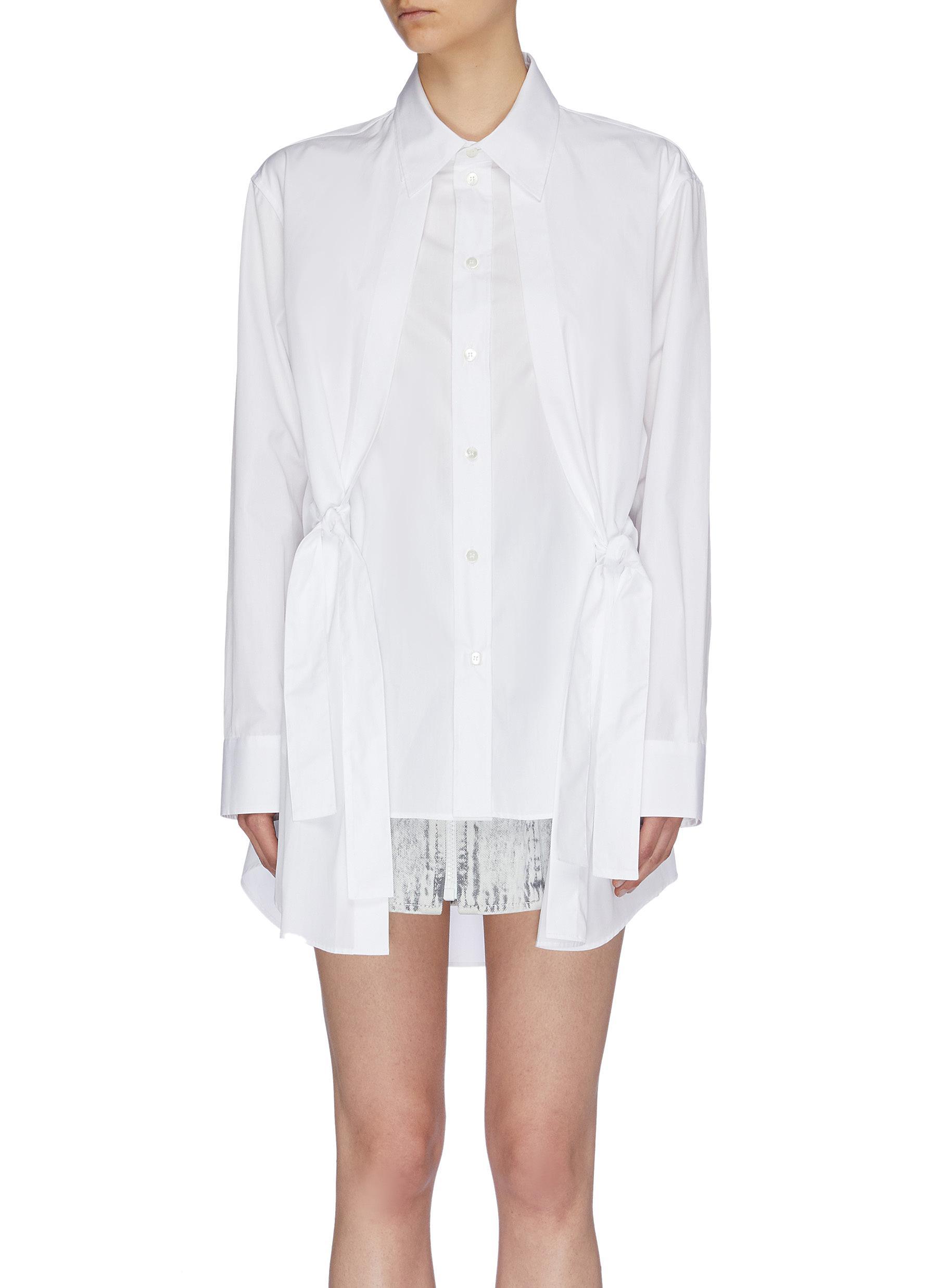 Knotted layered panel shirt by Maison Margiela