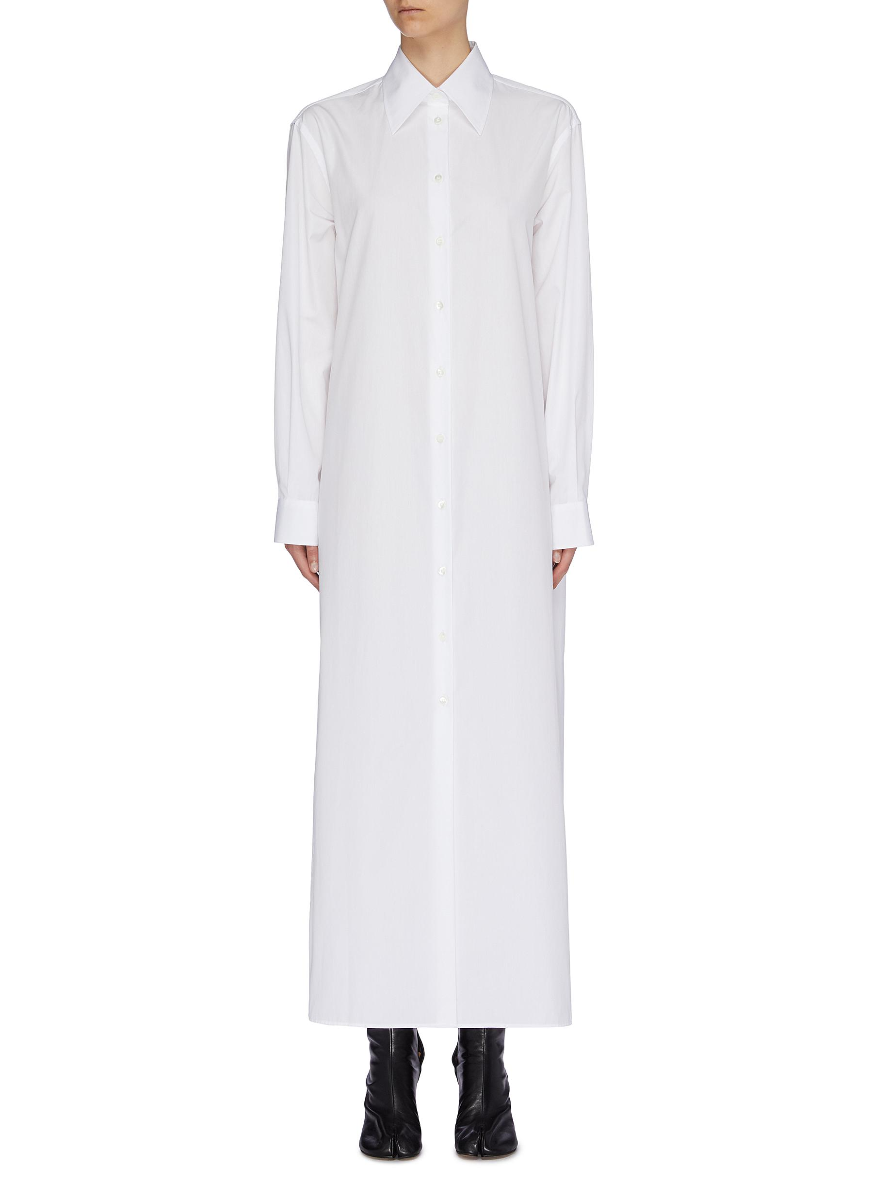 Oversized shirt dress by Maison Margiela