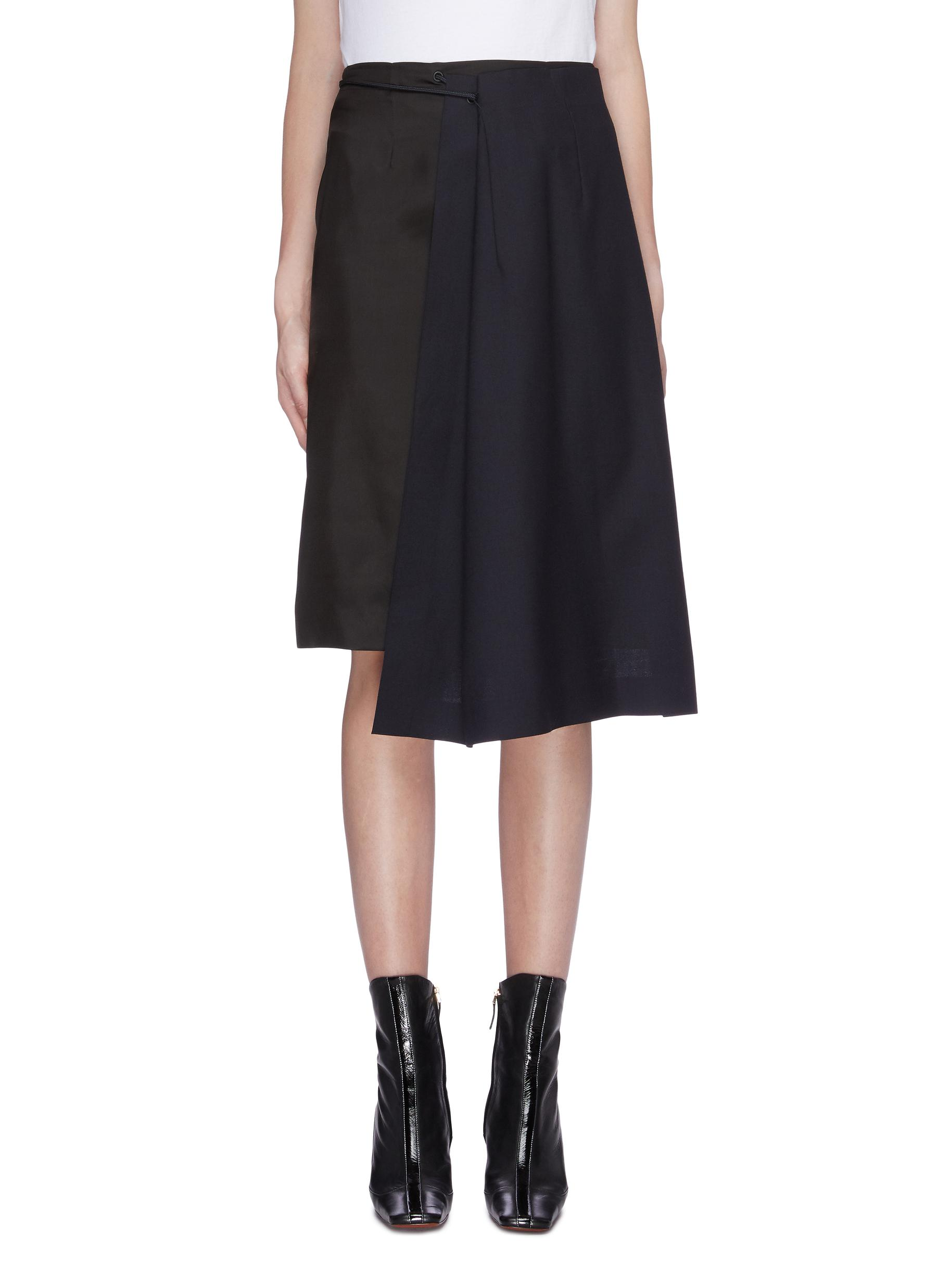 Asymmetric drape drawstring panel skirt by Maison Margiela