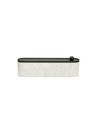 Main View - Click To Enlarge - SHANG XIA - Lacquered eggshell incense box – Natural Brown