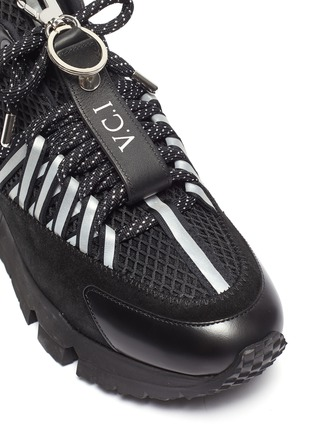 Detail View - Click To Enlarge - PIERRE HARDY - x Victor Cruz 'VC1 2006' chunky outsole mesh sneakers