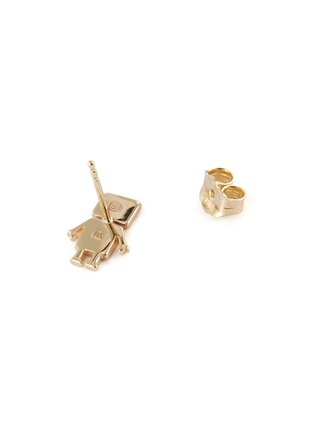 Detail View - Click To Enlarge - SYDNEY EVAN - 'Robot' diamond 14k yellow gold single stud earring