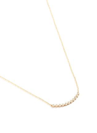 Detail View - Click To Enlarge - SYDNEY EVAN - Bezel set diamond bar pendant necklace