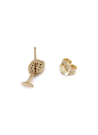 Detail View - Click To Enlarge - SYDNEY EVAN - 'Wine Glass' ruby 14k yellow gold single stud earring