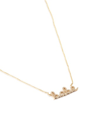 Detail View - Click To Enlarge - SYDNEY EVAN - 'Babe' small diamond 14k yellow gold necklace