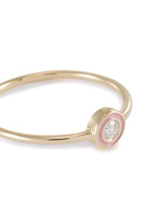 Detail View - Click To Enlarge - SYDNEY EVAN - Diamond 14k yellow gold enamel ring