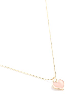 Detail View - Click To Enlarge - SYDNEY EVAN - Enamel heart 14k yellow gold pendant necklace
