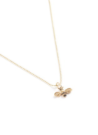 Detail View - Click To Enlarge - SYDNEY EVAN - Diamond 14k gold small bumblebee pendant necklace
