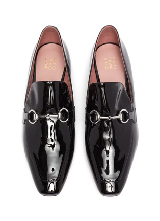 Detail View - Click To Enlarge - PEDDER RED - 'Zack' horsebit patent leather loafers