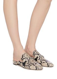 Pedder Red 'Zac' horsebit snake embossed loafer slides