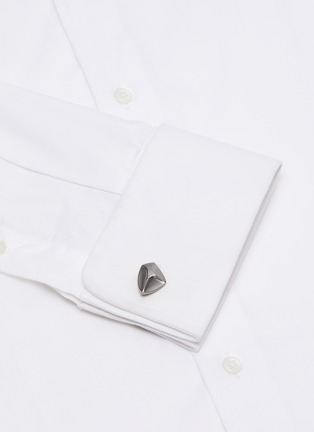 Figure View - Click To Enlarge - LANVIN - Abstract geometric cufflinks