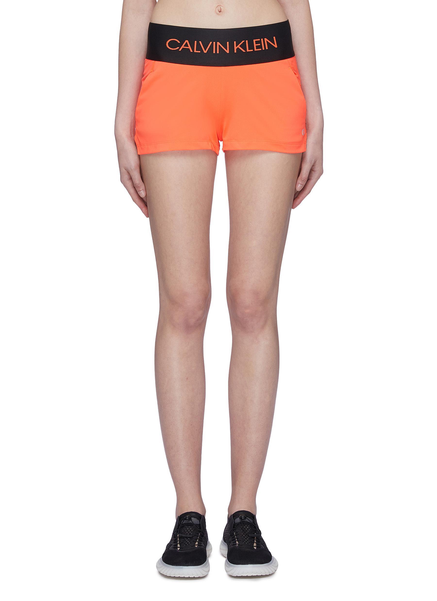 15512ce9d2 Calvin Klein Performance Logo Jacquard Waistband Track Shorts ...