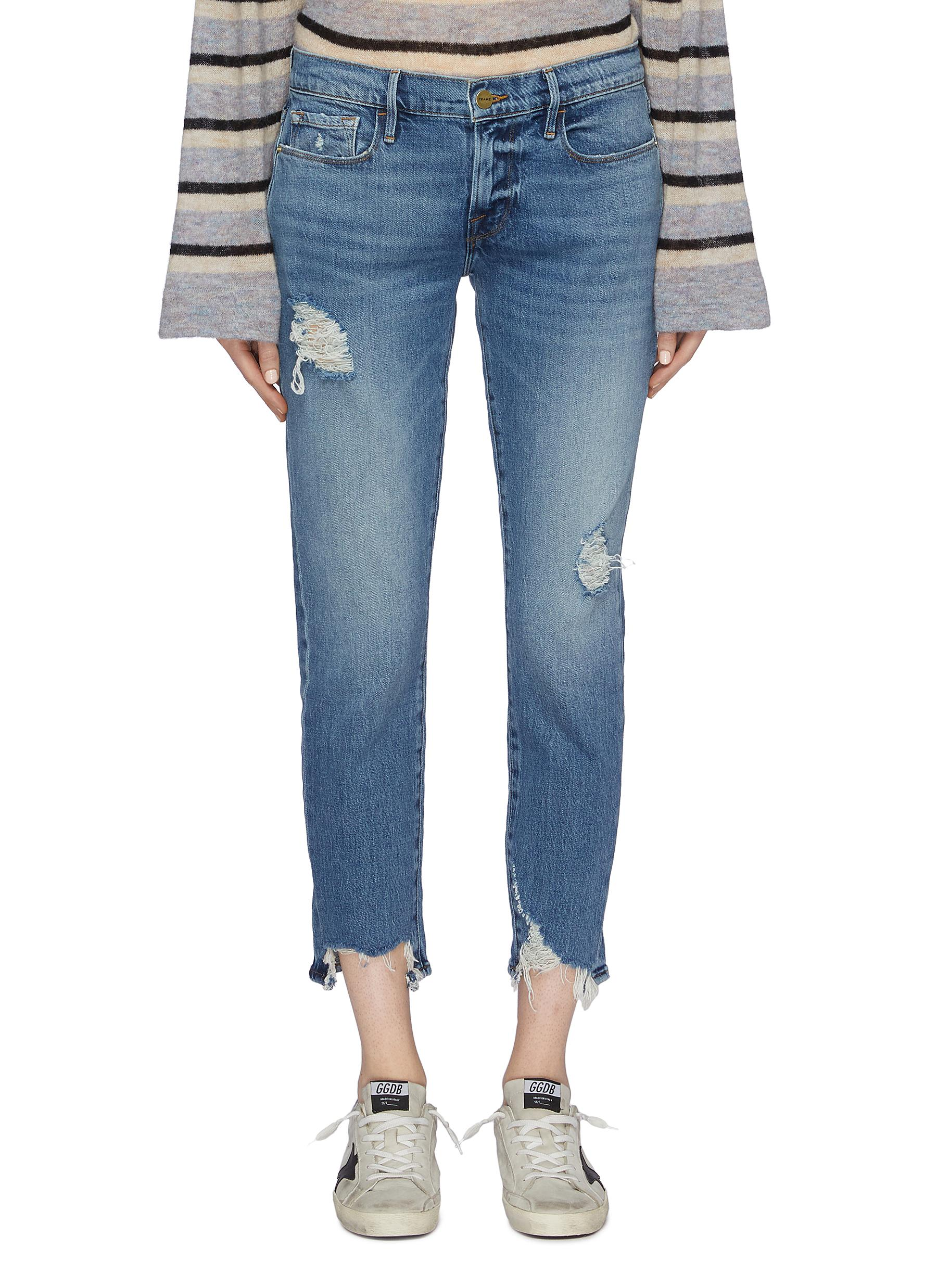 Le Garcon Crop boyfriend jeans by Frame Denim