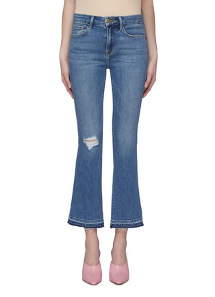 Main View - Click To Enlarge - FRAME DENIM - 'Le Crop Mini Boot' let-out cuff flared jeans